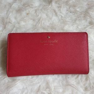Kate Spade Cedar Street Stacy red leather wallet